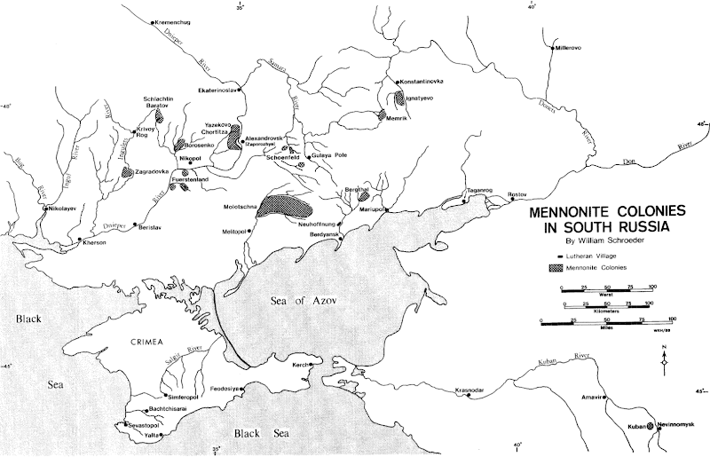 mennonite colonies in south russia